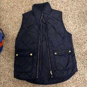 Navy Jcrew puffer vest